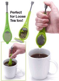 Jokari Healthy Steps Total Tea Infuser - http://www.teasetsale.com/jokari-healthy-steps-total-tea-infuser-11/      $  0.43 Tea Accessories Product Features  Jokari Healthy Steps Total Tea Infuser; perfect for brewing a single cup of tea Uniquely designed spoon neatly holds loose leaf or bagged teas with a mesh cover Use the built-in plunger to press tea and release more intense flavor Infuser measures...