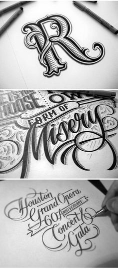 Inicial y Lettering