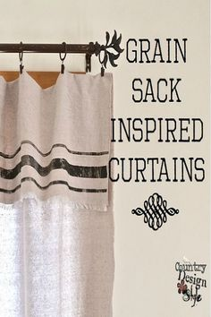 No-sew grain sack inspired curtains