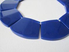 Vintage Lucite Necklace Statement Piece in Cobalt Blue