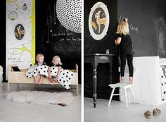 Black Chalkboard Paint in a Dutch Children's Bedroom | Remodelista
