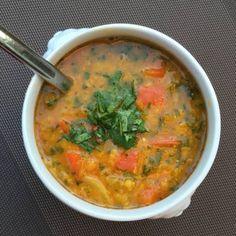 linzensoep, vegetarisch, voedselallergie, Yvonne van der Brugge