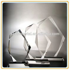 ice peak blank crystal trophy awards plaque for custom engraving ornament souvenirs