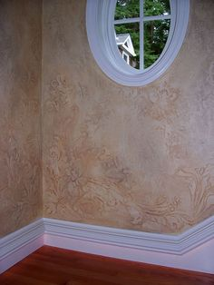 Love this texture finish and raised plaster stencil by Tracy Wade Design! Faux Paint Finishes, Wall Finishes, Faux Walls, Plaster Walls, Faux Painting, House Painting, Patterned Paint Rollers, Wall Design, House Design