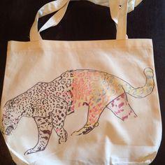 Kaleidescope  leopard tote! eTSY shop ruxpinsrags