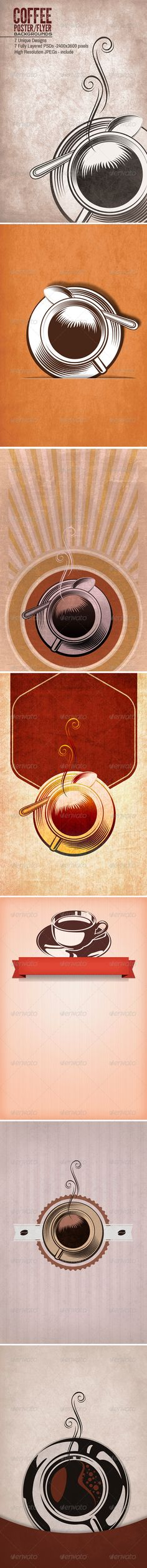 Coffee Tea Poster/Flyers Backgrounds  #GraphicRiver         7 Unique Poster Flyer Backgrounds,  	 8×12 inches -2400×3600 pixels  	 7 Fully Layered PSDs  	 7 High Resolution JPGs  	 fully editable  	 Please Rate it!     Created: 20June13 GraphicsFilesIncluded: PhotoshopPSD #JPGImage HighResolution: Yes Layered: Yes MinimumAdobeCSVersion: CS PixelDimensions: 2400x3600 PrintDimensions: 8x12 Tags: coffee #tea