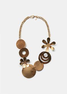 Combined appliqués chocker - Jewellery for Women | MANGO