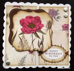 Card using Craftwork Cards Botanica collection. Birthday Wishes, Birthday Cards, Paper Crafts, Diy Crafts, Card Crafts, Craft Projects, Projects To Try, Craftwork Cards, Cardmaking And Papercraft