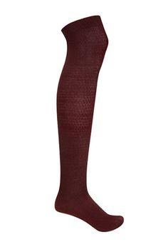 Textured Knit Over-The-Knee Socks | FOREVER21 - 2000122583