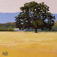 "Daily Paintworks - ""The Oak"" - Original Fine Art for Sale - © Nora Bergman"