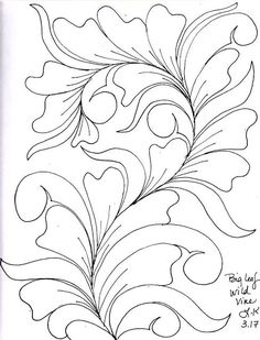 Quilting Sketches.......Wild Vines