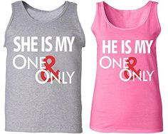 She & He Is One & Only - Matching Couple Love Tank Tops - His and Her Tanks - Brought to you by Avarsha.com