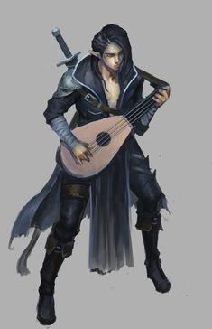 Elf Bard by jeffchendesigns on DeviantArt Male Character, Fantasy Character Design, Character Portraits, Character Design Inspiration, Character Concept, Fantasy Portraits, Character Creation, Concept Art, Dungeons And Dragons Art