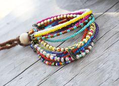 Color Chic Bead Bracelet by AvalynSkyDesign on Etsy, $24.00