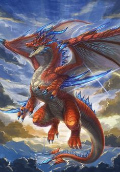 Mythical Creatures Art, Mythological Creatures, Fantasy Creatures, Dragon Images, Dragon Pictures, Tiamat Dragon, Mythical Dragons, Legendary Dragons, Dragon Sketch