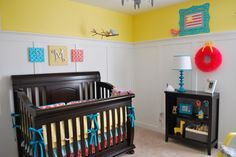 Yellow, Aqua and Coral Nursery