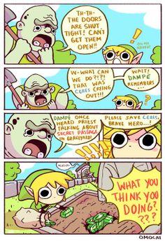 Legend of Zelda Adorableee Artwork by OMOCAT!!! Amazing Artist and I love these LoZ comics of hers!!