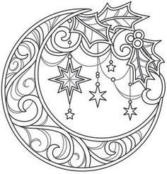 Celestial Christmas - Lunar Wreath_image