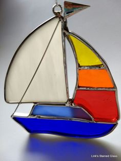 Stained Glass Sailboat | Pottery & Glass, Glass, Art Glass | eBay!