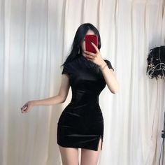 Black Dress Outfits, Casual Summer Outfits, Sexy Outfits, Girl Outfits, Fashion Outfits, Pink Dress, Korean Outfits, Mode Outfits, Look Fashion