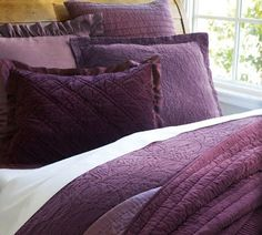 Purple Punch: Rustic Luxe Plum Bedding