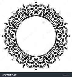 Mehndi, Indian Henna Tattoo Round Pattern Stock Vector Illustration 277600472 : Shutterstock