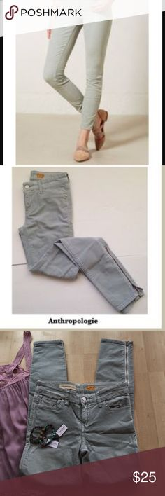 Anthro  Ankle Jeans Light jeans- cords from anthro! Size 26! Feel free to ask questions :)     Open to offers//No Low Balls//Feel free to Ask question!                                                            No Modeling but can put on mannequin if helpful!                               I treasure hunt so you can thrift easily  Anthropologie Jeans Ankle & Cropped
