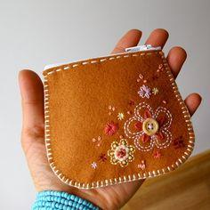felt coin purse