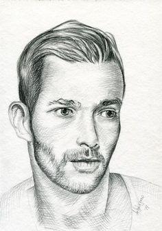 Helg Lugano pencil drawing