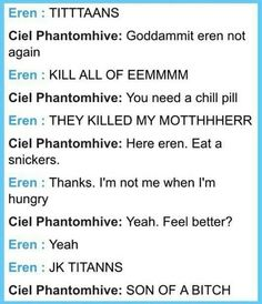 OMG as soon as I started reading this, the snk op 1 cam on on my playlist and now I'm on the floor laughing XD