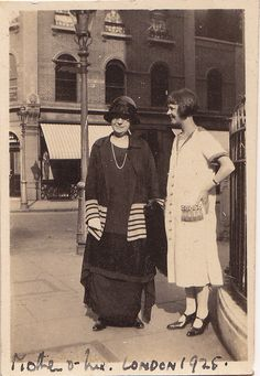 Mother and daughter, London, 1925