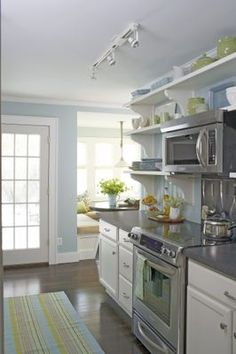 Kitchen Remodeling on a Budget.  Nice clean layout and colours.