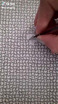 Art Drawings Sketches Simple, Pencil Art Drawings, Doodle Drawings, Easy Drawings, Doodle Art, Bullet Journal Art, Diy Canvas Art, Drawing Techniques, Art Tutorials