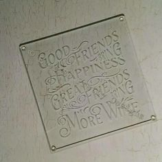 End result. Beautiful etched worktop saver / protector  /chopping board.
