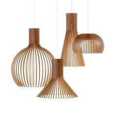 Wooden pendant light. Secto Design