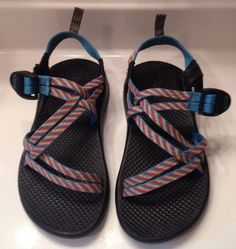44d15c8da569a1 Chaco Fiesta Rainbow Colored Sport Sandals Z Cloud Size Kids 3 Womens Size  5 - Go Shop Shoes