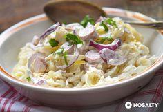 Korhelysaláta Pasta Recipes, Real Food Recipes, Salad Recipes, Cooking Recipes, Healthy Recipes, Cold Dishes, Tasty Dishes, Hungarian Recipes, Hungarian Food