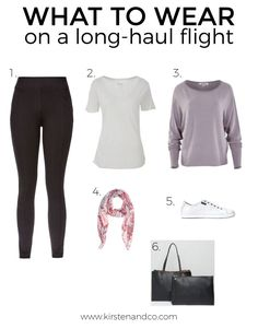Are you going on an overseas holiday soon and wondering what to wear on a long-haul flight? Here are some travel friendly outfit suggestions that will help. travel outfit long flights what to wear on a long-haul flight Comfy Travel Outfit, Winter Travel Outfit, Winter Outfits, Summer Outfits, Travel Attire, Winter Packing, Summer Travel, Holiday Outfits, Holiday Travel
