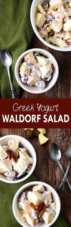This Waldorf salad is easy, healthy, full of sweet flavors, and perfect as a healthy dessert alternative | The Small Town Foodie