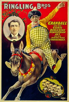 Ringling Bros., Crandall and his Comic Burlesque Equestrian Act poster