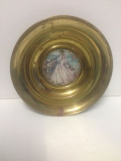 Your place to buy and sell all things handmade Romantic Pictures, Wall Plaques, Solid Brass, Art Nouveau, Sailing, Vintage Items, Restoration, My Etsy Shop, Victorian
