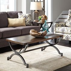 Living Room Decor: Baybrin Rectangular Cocktail Table by Ashley Furniture at Kensington Furniture Parks Furniture, At Home Furniture Store, Furniture Legs, Furniture Styles, Home Decor Furniture, Cool Coffee Tables, Modern Coffee Tables, Living Room Decor On A Budget, Living Rooms