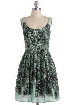 9d71e3b5bf1eb Delightful As A Feather Dress, #ModCloth - replace the silk and large price  tag