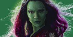 Zoe Saldaña es Gamora -Guardianes de la galaxia (2014) gamora