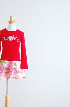 Valentine's Day Children Upcycled Dress Children by LittleOvercoat, $30.00