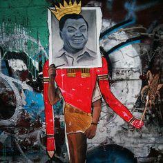 A Bolt of Blue - Williamsburg, Brooklyn street art