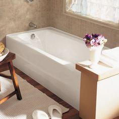 Spectra 66 Inch By 32 Inch Integral Apron Cast Iron Bathtub   American  Standard Bathtubs Cool