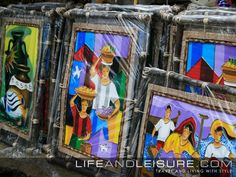 Artwork made by local artists on sale at Tagaytay Picnic Grove