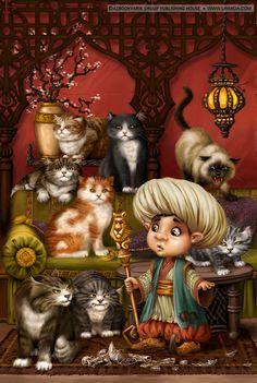 Сообщество иллюстраторов / Иллюстрации / LiaSelina / Бабкины кошки