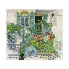 """Gien - 'De Paris à Giverny' Collection - Shallow Dish, 11.5x10.5"""""""